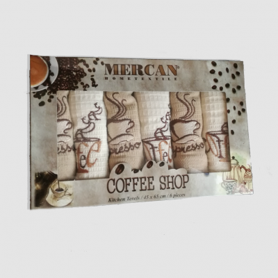 Utěrky 6-SET Mercan 45x65 COFFEE
