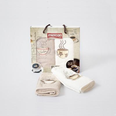 Kuchyňské ručníky 2-SET Mercan 30x50 COFFEE