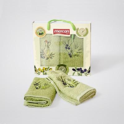 Kuchyňské ručníky 2-SET Mercan 30x50 OLIVA