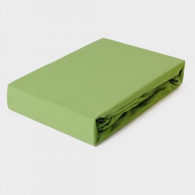 Prostěradlo JERSEY 100x200 tmavě zelené