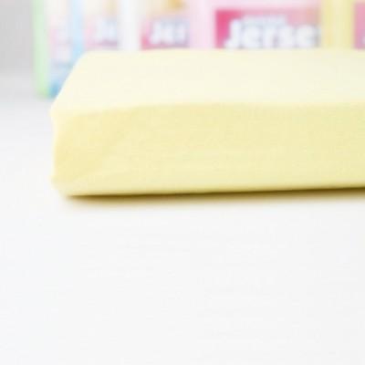 Prostěradlo JERSEY 70x140 dětské světle žluté