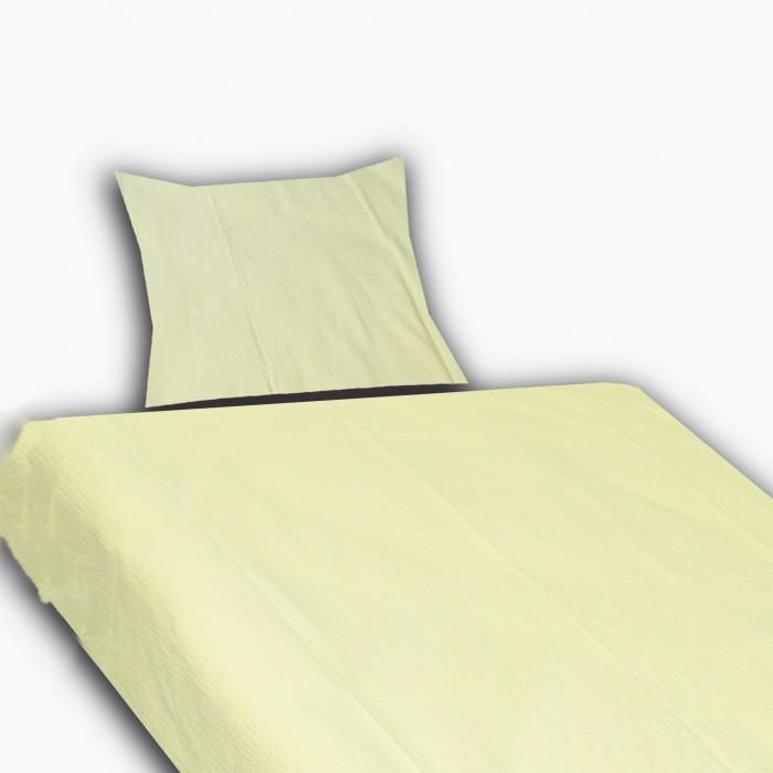 Krepové povlečení 70x90 140x200 jednobarevné žluté
