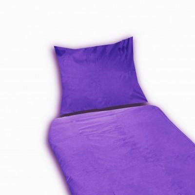 Bavlněné povlečení SUNNY 70x90 140x200 jednobarevné fialové