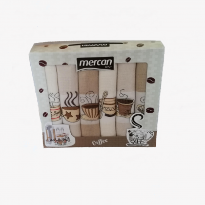 Utěrky 6-SET Mercan 50x70 COFFEE