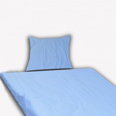 Krepové povlečení 45x65 90x135 jednobarevné modré