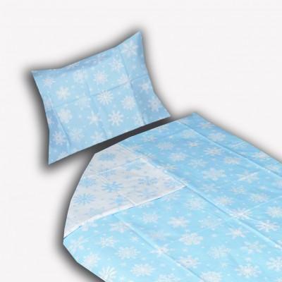 Bavlněné povlečení SUNNY VÁNOCE 70x90 140x200 R545 modré