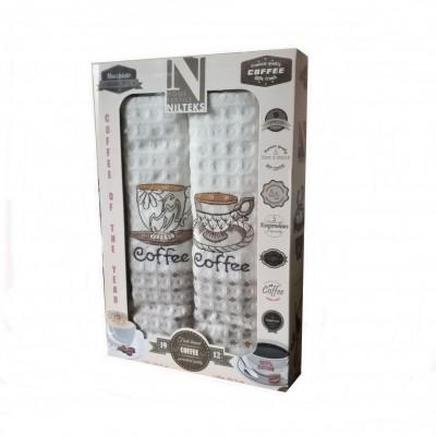 Kuchyňské utěrky 2-SET Fresh 50x70 COFFEE