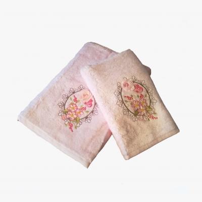 Osuška BAMBUS Volenka perlička 70x140 světle růžová