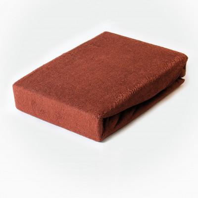 Prostěradlo FROTÉ 100x200 hnědé