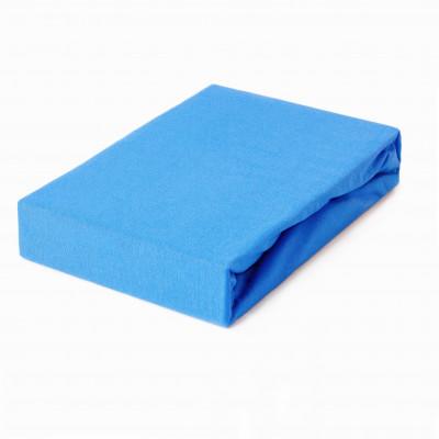 Prostěradlo JERSEY 100x200 modré