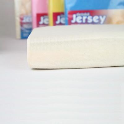 Prostěradlo JERSEY 70x140 dětské krémové