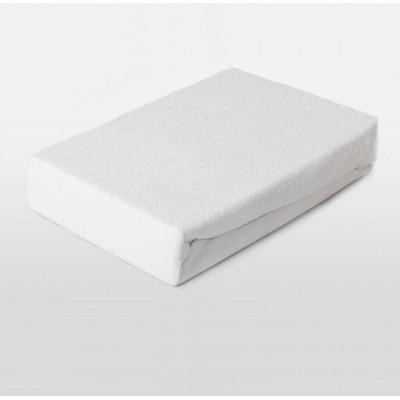 Prostěradlo FROTÉ 160x200 bílé