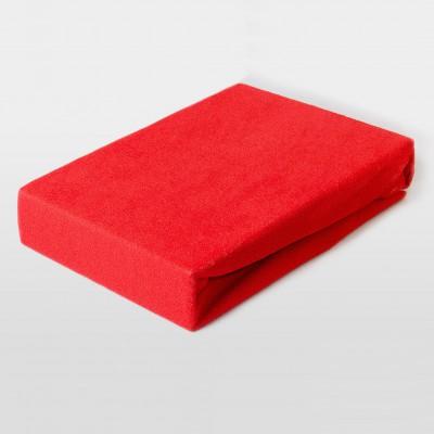 Prostěradlo FROTÉ 160x200 červené