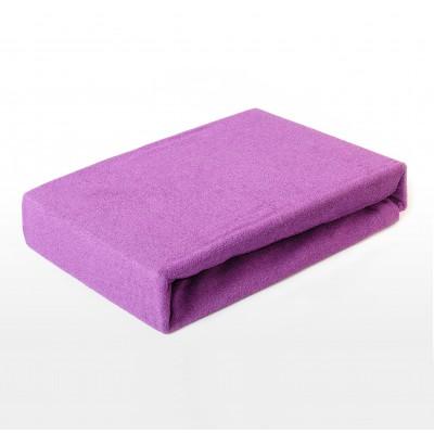 Prostěradlo FROTÉ 200x220 tmavě fialové
