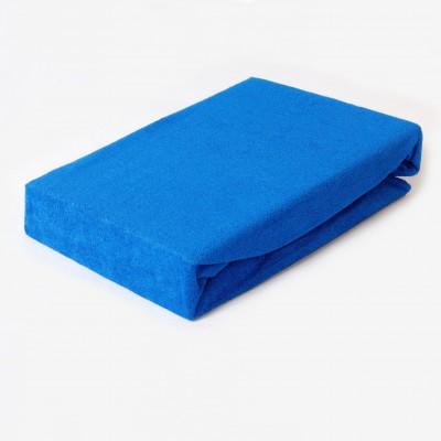 Prostěradlo FROTÉ 160x200 tmavě modré