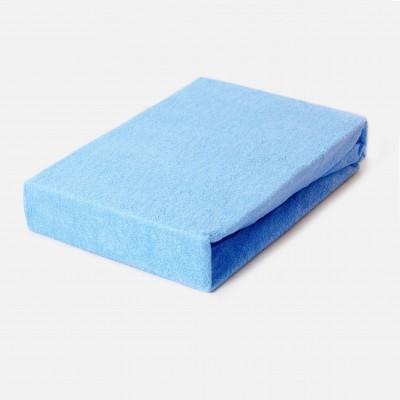Prostěradlo FROTÉ 100x200 modré