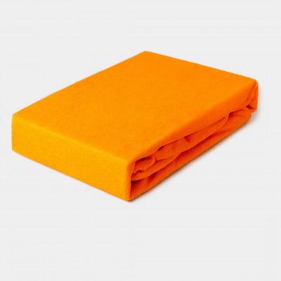 Prostěradlo FROTÉ 160x200 oranžové