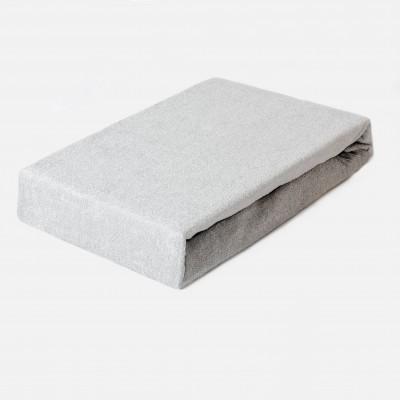 Prostěradlo FROTÉ 160x200 šedé