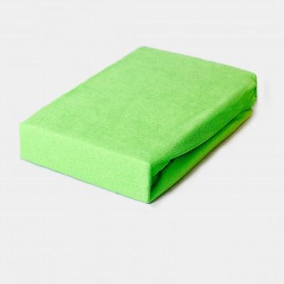 Prostěradlo FROTÉ 160x200 zelené