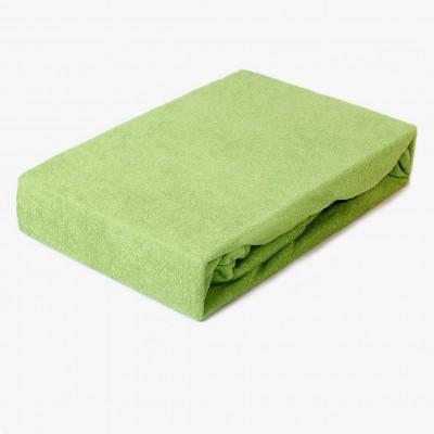 Prostěradlo FROTÉ 200x220 trávově zelené