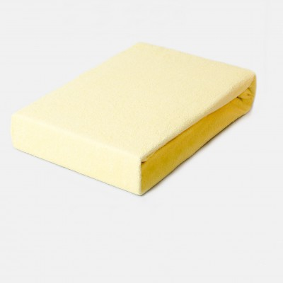 Prostěradlo FROTÉ 200x220 světle žluté