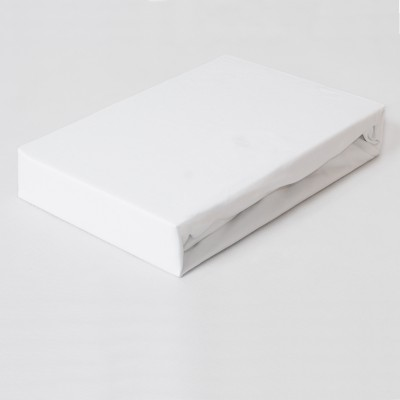 Prostěradlo JERSEY 160x200 bílé