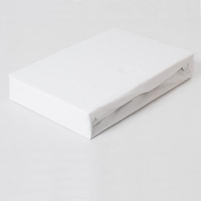 Prostěradlo JERSEY 180x200 bílé