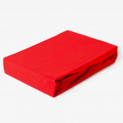 Prostěradlo JERSEY 100x200 červené