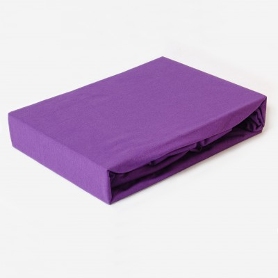 Prostěradlo JERSEY 100x200 tmavě fialové