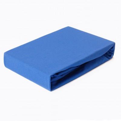 Prostěradlo JERSEY 180x200 tmavě modré