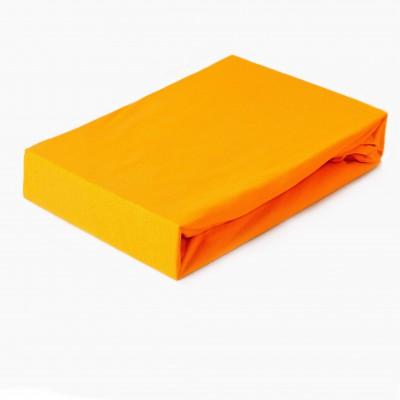 Prostěradlo JERSEY 160x200 oranžové