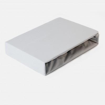 Prostěradlo JERSEY 180x200 šedé