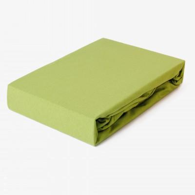 Prostěradlo JERSEY 200x220 trávově zelené